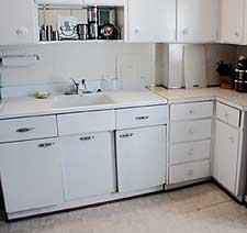 kitchen before redesign by Debra Gould
