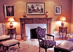 house fluffing living room