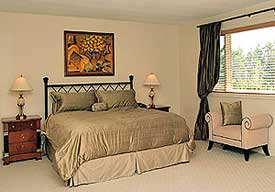 bedroom after staging by Debra Gould